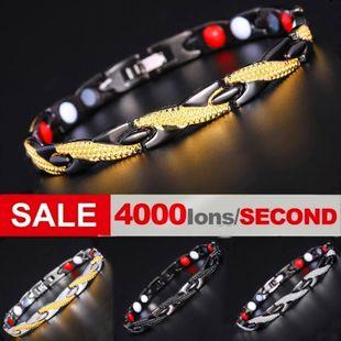 Titanium steel magnet bracelet trend magnetic bracelet wholesale NHLN211123's discount tags