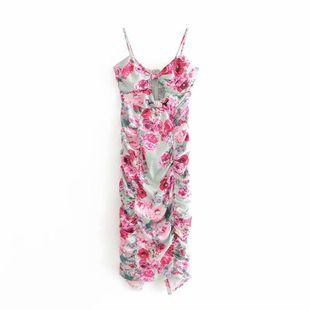 Wholesale new fashion slim thin floral folds hollow strap bag hip dress NHAM211133's discount tags