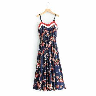 Wholesale new fashion summer sling print dress NHAM211137's discount tags
