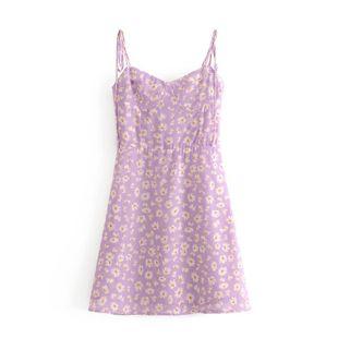 Wholesale spring fashion romantic little daisy print sexy lace mini dress NHAM211140's discount tags