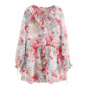 Wholesale spring fashion two-piece ruffled dress NHAM211164's discount tags