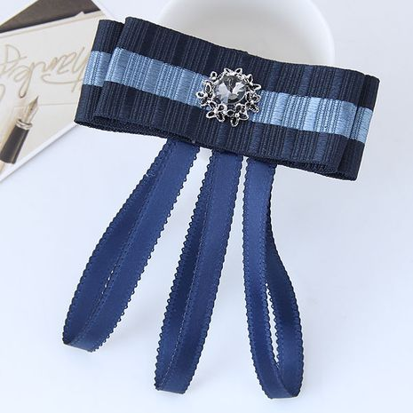 Wild bow tassel gemstone accessories female collar brooch yiwu nihaojewelry wholesale NHSC211265's discount tags