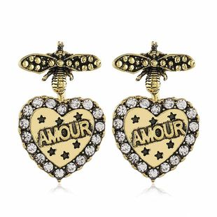 New fashion retro alloy love insect earrings wholesale NHVA211244's discount tags