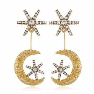 New fashion star moon moon earring wholesale NHVA211245's discount tags