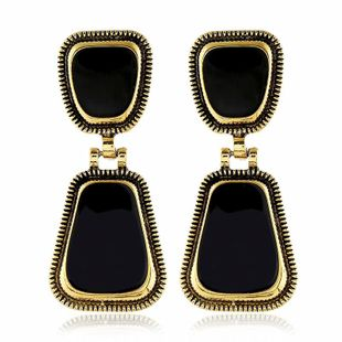 New fashion retro alloy square earrings wholesale NHVA211246's discount tags