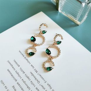New fashion alloy diamond earrings branches earrings wholesale NHVA211252's discount tags
