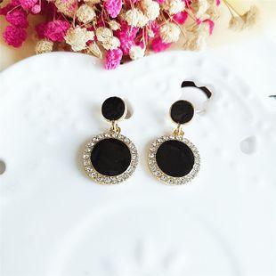 Korean new fashion alloy diamond retro round earrings wholesale NHVA211255's discount tags