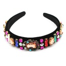 New fashion baroque fashion color diamonds geometric wild ladies headband cheap headband wholesale NHWJ211355