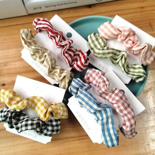 New fashion wild lattice cheap scrunchies wholesale NHSA211359's discount tags