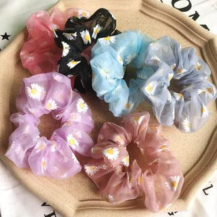 New fashion flowers mesh scaffolding wholesale chrysanthemum cheap scrunchies NHSA211360's discount tags