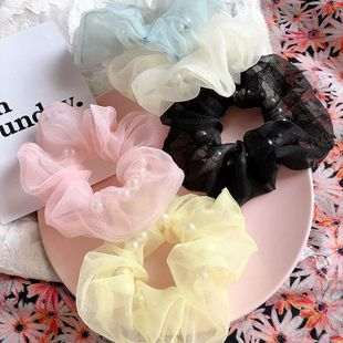 New Korean Pearl Eugen yarn simple and simple cheap scrunchies wholesale NHHI211366's discount tags