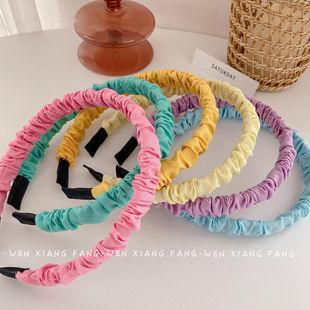 The new fashion pleated hairband wild color hairband wholesale NHOF211380's discount tags