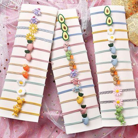Banda de goma de dibujos animados linda niños estudiante cabeza cuerda moda cabello cuerda pelo anillo niña accesorios para el cabello nihaojewelry al por mayor NHPJ211405's discount tags