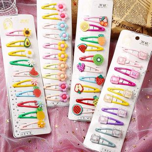 Fashion bb clip card broken hair bangs clip ladies hairpin headdress princess baby hair accessories nihaojewelry wholesale NHPJ211410's discount tags