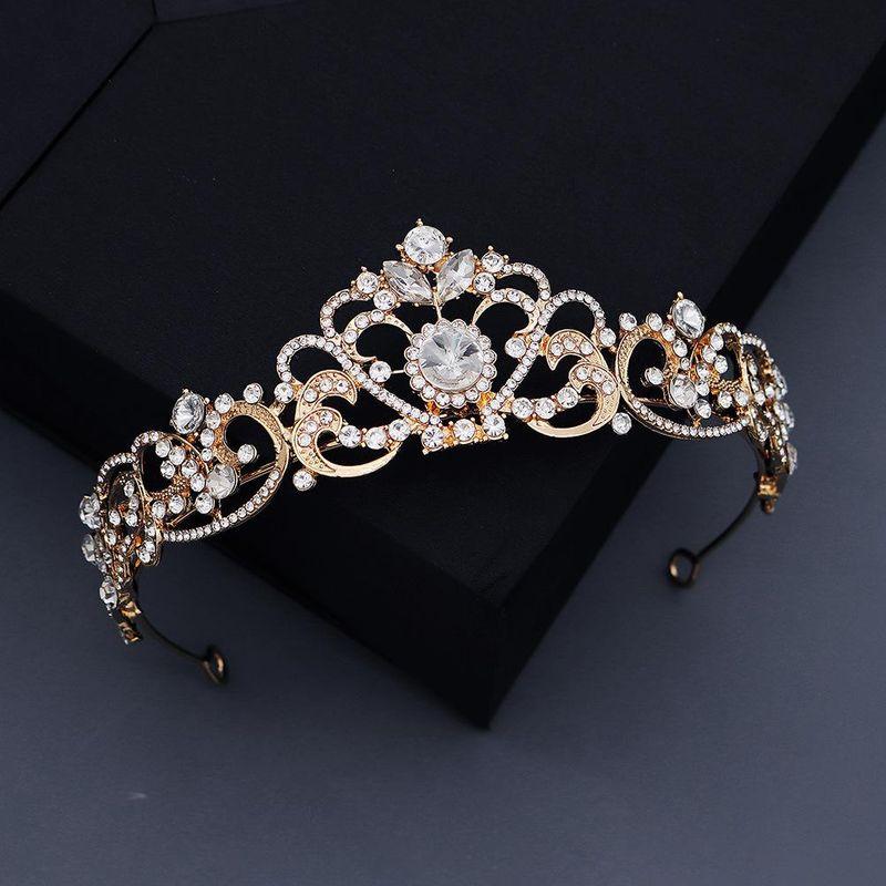 Nueva moda barroca retro banda de pelo aleación corona novia boda cabeza adornos NHHS211425
