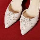 Fashion highend jewelry European and American bridal wedding shoes accessories crystal flowers handmade DIY wild shoe buckle NHHS211436