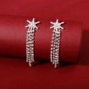 Pendientes de borla de estrella de seis puntas de nueva moda coreana al por mayor NHHS211445