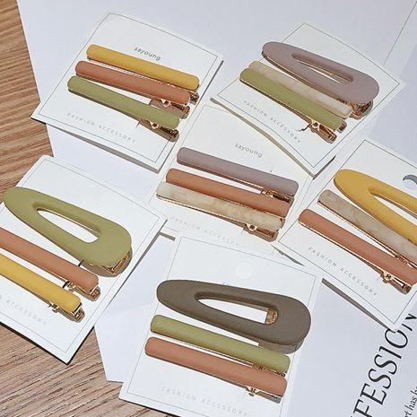 Nueva moda coreana simple conjunto de horquilla barata yiwu nihaojewelry al por mayor NHDQ211452's discount tags