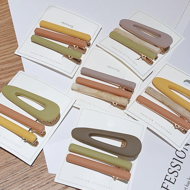 Korean new fashion simple cheap hairpin set yiwu nihaojewelry wholesale NHDQ211452