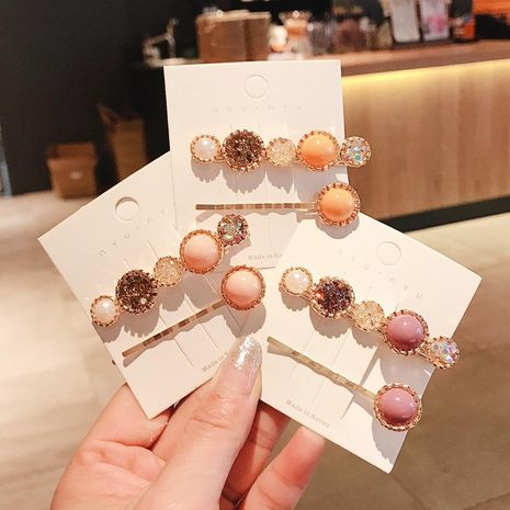 Nuevo color de moda coreano horquilla barata yiwu nihaojewelry al por mayor NHDQ211454's discount tags