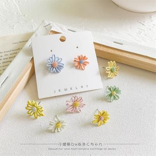 Korean new fashion hollow daisy flower earrings nihaojewelry wholesale NHLA211465's discount tags