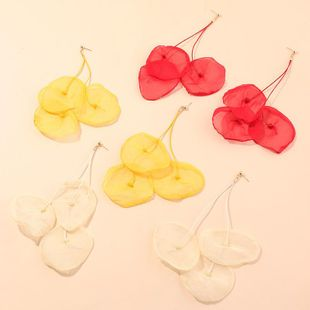 New fashion super fairy mesh gauze flower petal earrings nihaojewelry wholesale NHNZ211502's discount tags