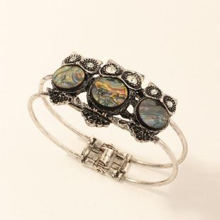New fashion retro distressed metal inlaid abalone shell bracelet owl bracelet wholesale NHNZ211512's discount tags