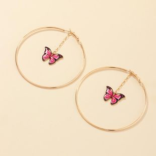 New fashion simple ring hollow earrings butterfly earrings wholesale NHNZ211517's discount tags