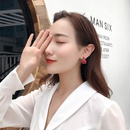Vintage red French simple earrings square oil drop pendant earrings wholesale NHXI211526