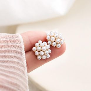 Korean new fashion irregular pearl ball retro earrings nihaojewelry wholesale NHXI211528's discount tags