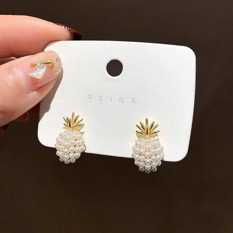 New fashion pineapple pearl earrings nihaojewelry wholesale NHXI211533's discount tags