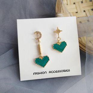 Nueva moda amor simples pendientes salvajes Xingyue verde menta gota aceite pendientes de diamantes al por mayor NHXI211534's discount tags