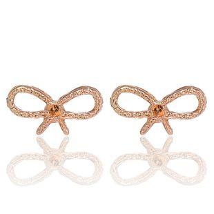 Korean new fashion bow metal earrings wholesale nihaojewelry NHPF211560's discount tags