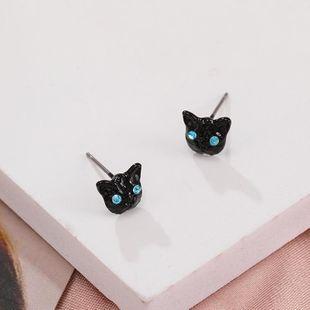 New fashion cute animal earrings black cat earrings nihaojewelry wholesale NHPF211567's discount tags