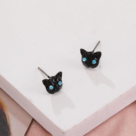 Nouveau mode mignon animal boucles d'oreilles chat noir boucles d'oreilles nihaojewelry gros NHPF211567's discount tags