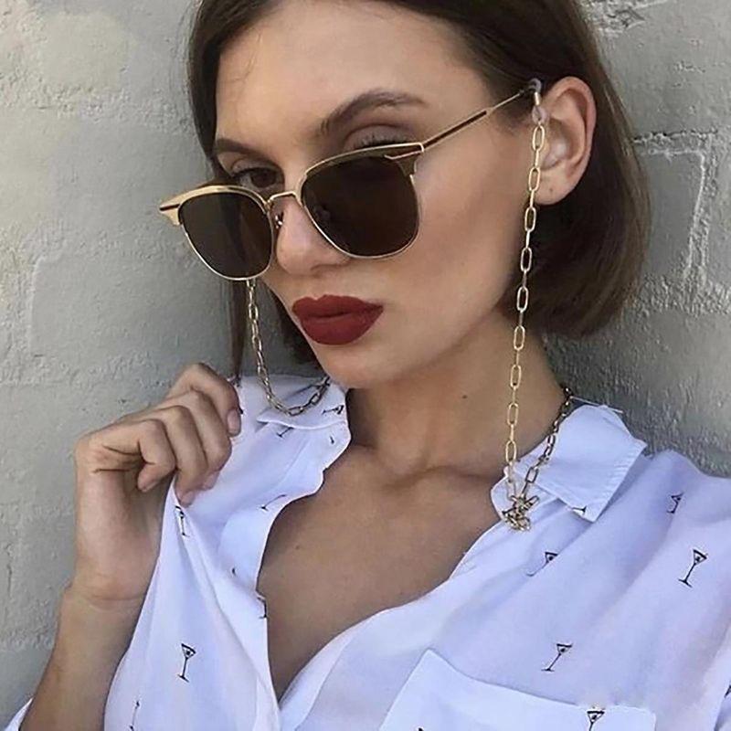 Fashion jewelry retro geometric tassel accessories cross chain Ushaped glasses chain NHXR211597