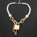 New fashion pearl lock necklace pendant simple wild clavicle chain necklace wholesale NHCT211617