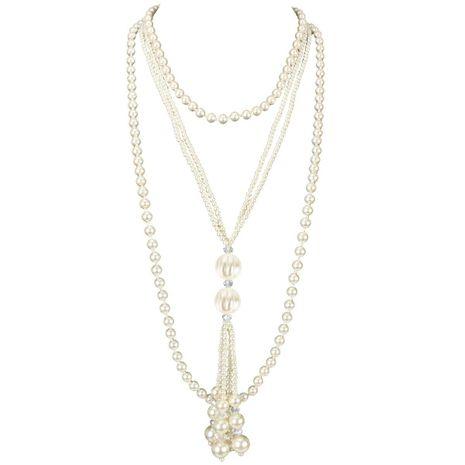 Nueva moda collar de perlas multicapa al por mayor NHCT211618's discount tags