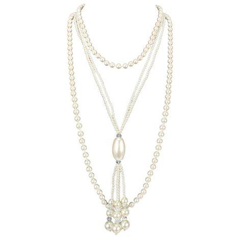 Nuevo collar de perlas de moda de 2 piezas al por mayor NHCT211619's discount tags