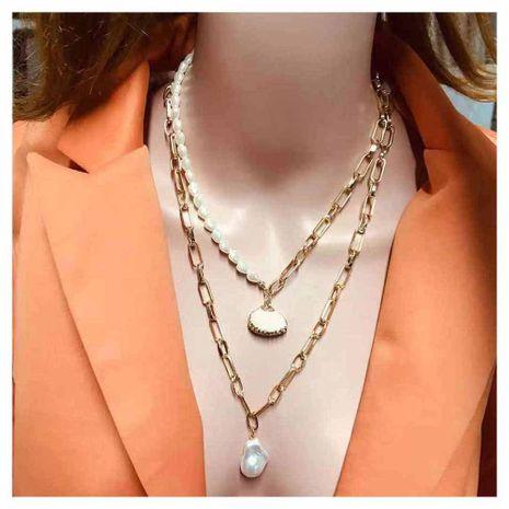 Nueva moda en forma de perla concha colgante collar al por mayor NHCT211627's discount tags