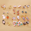 New fashion animal cartoon earrings creative retro cute sweet fruit earrings NHPJ211646