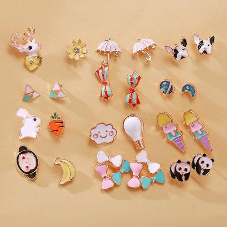 New fashion animal cartoon earrings creative retro cute sweet fruit earrings NHPJ211646's discount tags