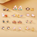 New fashion animal cartoon earrings creative retro cute sweet fruit earrings NHPJ211646