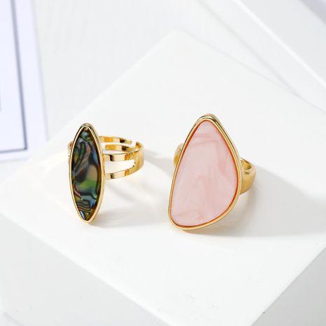 Nouvelle mode imitation agate pièce anneau ormeau coquille anneau en gros NHGO211647's discount tags