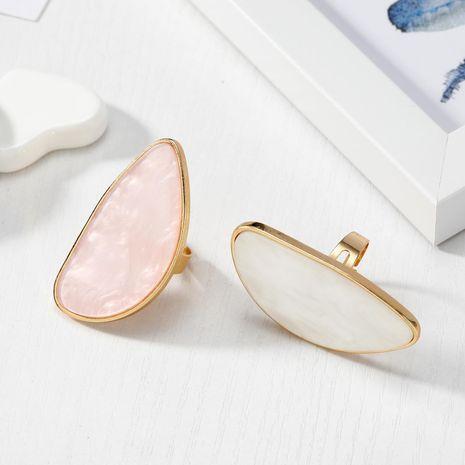 Nouvelle mode imitation agate pièce anneau imitation shell anneau en gros NHGO211649's discount tags