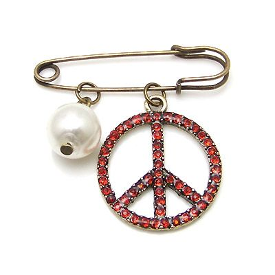 Korean fashion popular retro peace sign brooch yiwu nihaojewelry wholesale NHSC211307