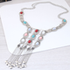 Metal simple boho style exaggerated accessories tassel long necklace yiwu nihaojewelry wholesale NHSC211319
