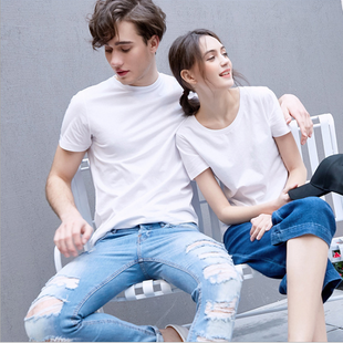 Modal white t-shirt men and women corporate event advertising shirt t-shirt custom short-sleeved t-shirt wholesale printing logo NHAT211673's discount tags