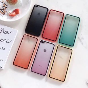 Acrylic gradient Apple 11 mobile phone case suitable for oppo vivo Huawei TPU PC Phone Case wholesale NHKI211689's discount tags