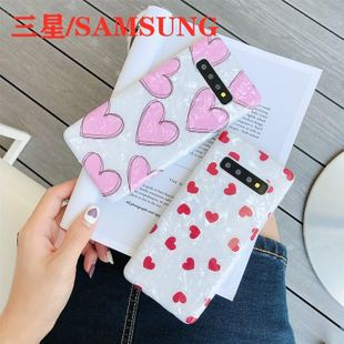 New fashion love S20 Samsung note10 mobile phone shell shell pattern s10plus soft white border s8 / s9 Phone Case wholesale NHDV211715's discount tags